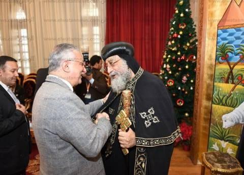 البابا تواضروس الثاني يستقبل وزير التنمية المحلية السابق