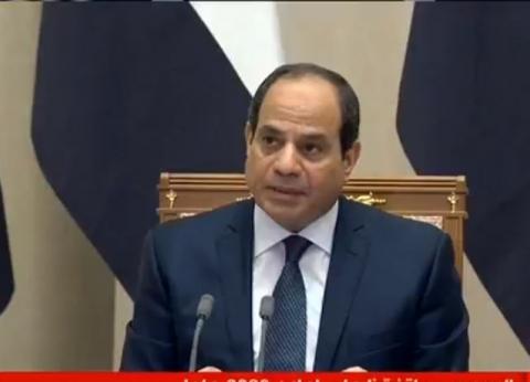 السيسي: اتفقت مع بوتين على دعم الجهود الأممية في سوريا وليبيا