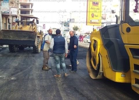 بدء أعمال رصف شوارع قرية غيط النصارى في دمياط