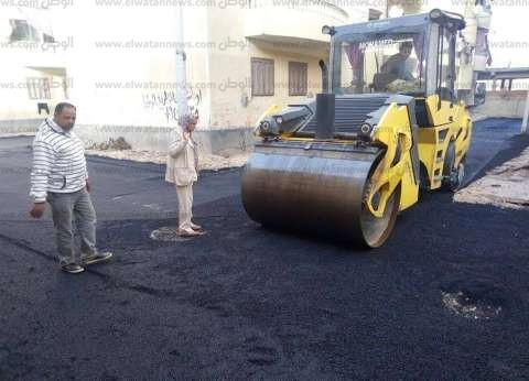 بالصور  محافظ كفر الشيخ يتابع رصف عدد من طرق العاصمة وسيدي سالم