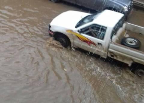 بالصور| طرق رئيسية وشوارع وميادين أغلقت بسبب السيول