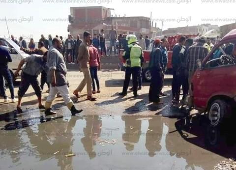 بالأسماء| مصرع سيدة وإصابة 9 مواطنين في تصادم ميكروباص وملاكي بالبحيرة
