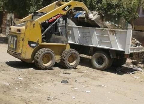 إزالة 30 حالة تعد على الأراضي الزراعية بمركز ديرمواس في المنيا