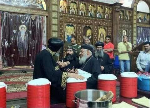 استمرار احتفالات عيد السعف بالإسكندرية بعد مغادرة البابا تواضروس