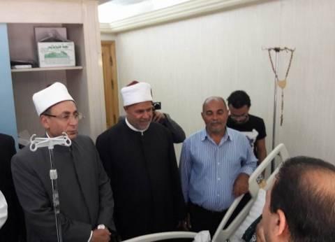 """أمين """"البحوث الإسلامية"""" يزور مصابي حادث المنيا"""