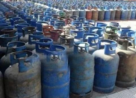 ضبط سائق في بني سويف جمع 750 أسطوانة بوتاجاز مدعمة لبيعها لحسابه