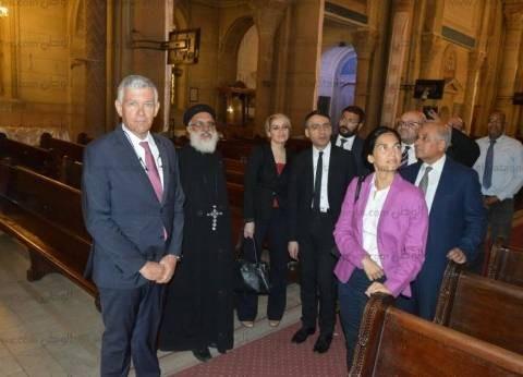 سفير فرنسا يزور بطريركية الإسكندرية للتعزية في شهداء الإسكندرية