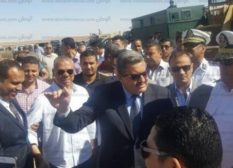 بالصور| مدير أمن الجيزة يقود حملة لإزالة التعديات على أراضي الدولة
