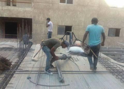 إيقاف أعمال بناء أدوار مخالفة في عقار بحي المنتزه بالإسكندرية
