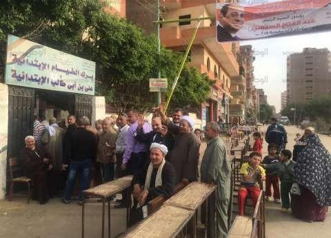 توافد الناخبين عل لجان المعادي ودار السلام قبيل غلق أبواب الاقتراع
