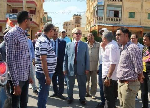 بالصور| محافظ كفر الشيخ يتفقد مسجدي الأمل والنرجس وخدمات مصيف بلطيم
