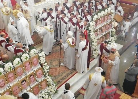 إحياء الذكرى الثانية لشهداء «مار جرجس طنطا» و«مرقسية الإسكندرية»