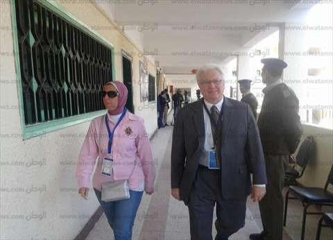 بالصور| قنصل أمريكا بالإسكندرية يتفقد بعض لجان كفر الشيخ.. ويؤكد: سعيد بنسبة الإقبال
