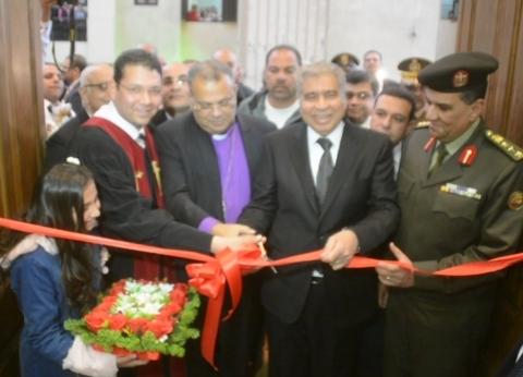 افتتاح الكنيسة الإنجيلية المشيخية بعد إعادة بنائها بملوي في المنيا