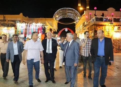 محافظ جنوب سيناء يتفقد مسرح الحفلات الغنائية بمنتدى الشباب