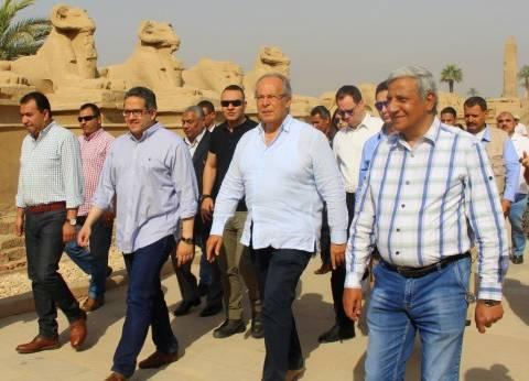 غدا.. وزير الآثار يتفقد طريق الكباش في الأقصر