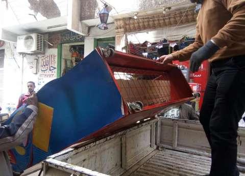حملة إزالة للإشغالات والتعديات بحي وسط في الإسكندرية