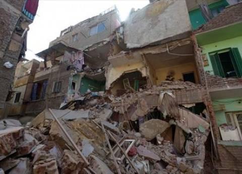 انهيار منزل مبني بالطوب اللبن من 3 طوابق دون خسائر بشرية بسوهاج