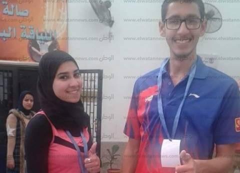 جامعة بورسعيد تفوز بأول ميدالية بمهرجان اﻷسر الطلابية في مسابقة تنس الطاولة