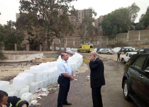 بالصور| نائب محافظ القاهرة يتفقد موقع حريق مستشفى الصدر بالعباسية