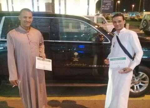 بطلا إنقاذ محطة مصر يصلان السعودية لأداء مناسك العمرة: quotهندعي للبلدquot