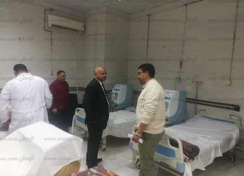 """وكيل """"صحة بني سويف"""" يتفقد مستشفى سمسطا المركزي بمقرها المؤقت"""