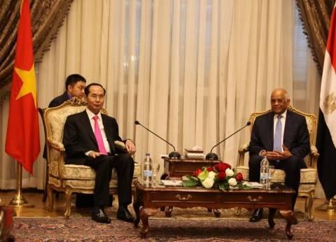 بالصور| رئيس فيتنام: التبادل التجاري مع مصر يحقق مليار دولار في 2020