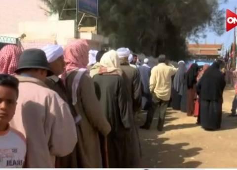 بالفيديو| أهالي سيناء يتحدون الإرهاب وإقبال كثيف على لجان الانتخابات