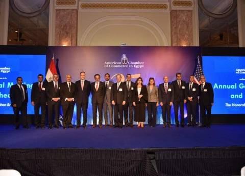 بالصور| حفل تسليم رئاسة الغرفة الأمريكية لطارق توفيق خلفا لإكليمندوس