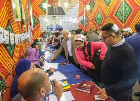 قاعات نقابة الصحفيين تشهد زحاما شديدا منذ فتح باب التصويت