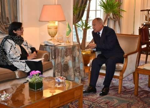 """أبوالغيط يستقبل مرشحة باكستان لمنصب مدير عام """"الصحة العالمية"""""""