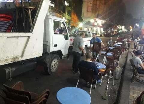 حي وسط الإسكندرية يشن حملة لإزالة المخالفات ورفع الإشغالات