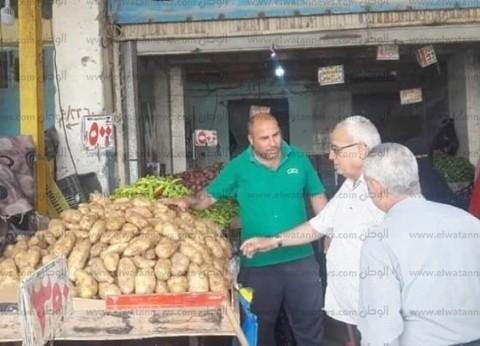 """وكيل """"تموين شمال سيناء"""" يتفقد الأسواق في العريش"""