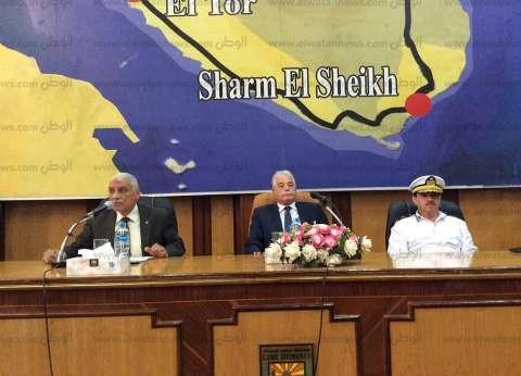 محافظ جنوب سيناء يطالب بتسريع إجراءات التفتيش بمدخل شرم الشيخ