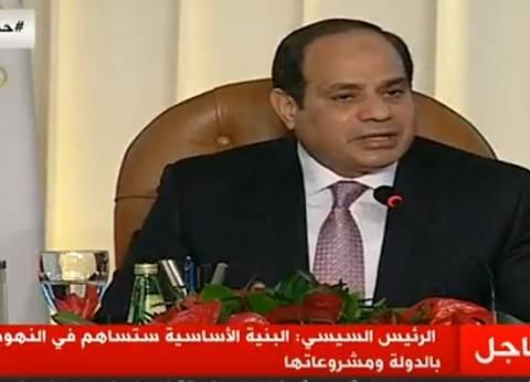 السيسي: سنزرع 450 ألف فدان داخل سيناء