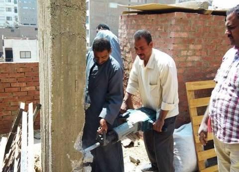 تنفيذ 10 قرارات إزالة لمباني مخالفة بسوهاج