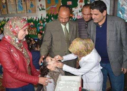 بالصور| رئيس مطوبس يتابع الحملة القومية للتطعيم ضد مرض شلل الأطفال