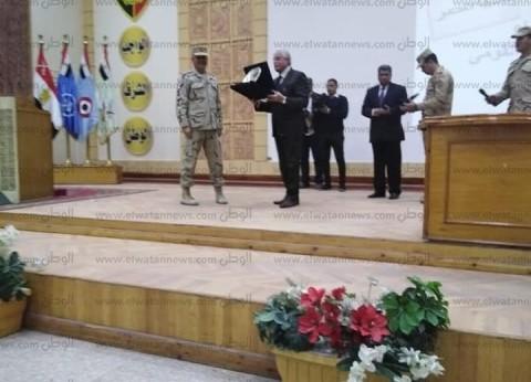 محافظ جنوب سيناء يلقي محاضرة لطلبة الكلية الحربية