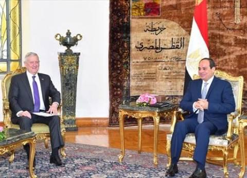 جيمس ماتيس يؤكد للرئيس السيسي دعم أمريكا لمصر في مواجهة الإرهاب