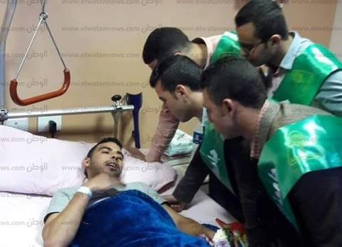 جامعة المنوفية تزور مصابي الجيش في مستشفى حلمية الزيتون العسكري