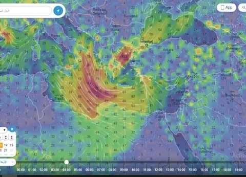 خبير مناخي: رياح قوية محملة بالرمال تأتي من شمال ليبيا إلى مصر