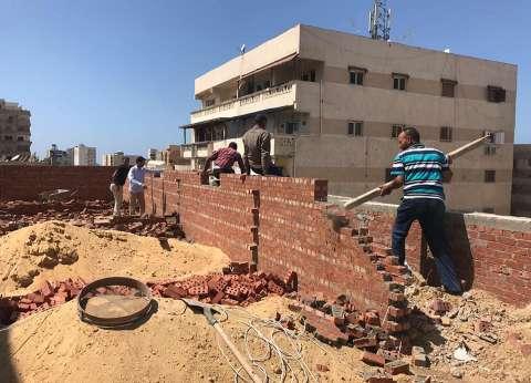 حي شرق الإسكندرية يشن حملة مكبرة لإيقاف البناء المخالف