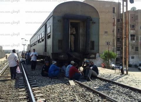 عودة حركة السكة الحديد في سوهاج بعد تعطل قطارين