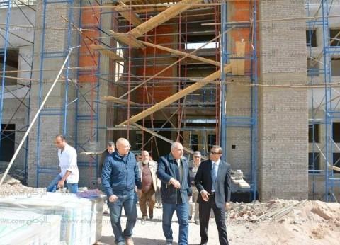 بالصور| سكرتير عام جنوب سيناء يتفقد مقر جامعة الملك سلمان في الطور