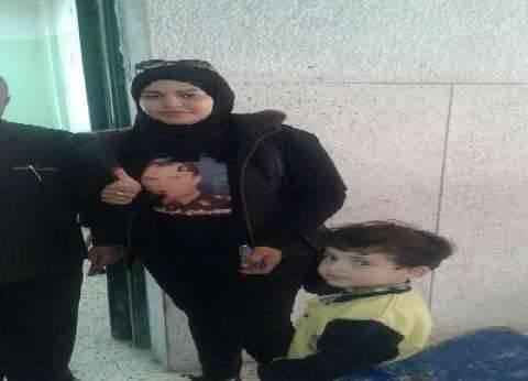 صور الشهداء فى لجان الانتخابات وأصوات أهاليهم فى الصناديق
