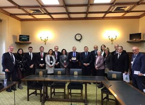 وفد البرلمان المصري يلتقي رئيس مجلس العموم البريطاني