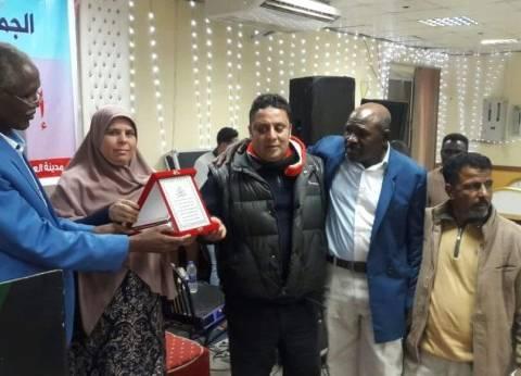 بالصور| الجالية السودانية تكرم أمين عام منظمة الحرية بالعاشر من رمضان