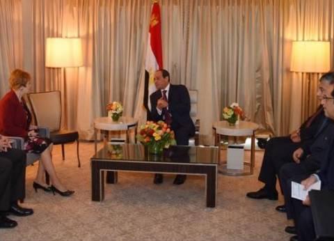 تفاصيل لقاء السيسي مسؤولين بالكونجرس.. الرئيس أشاد بمواقفهما تجاه مصر