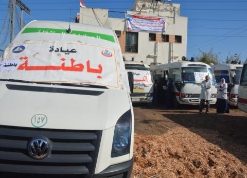 محافظ دمياط تتابع أعمال القافلة الطبية الشاملة بقرية السيالة