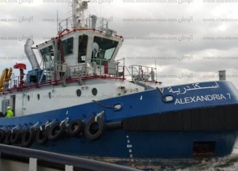 """قاطرتان بحريتان جديدتان """"4"""" و""""7"""" تدخلان الخدمة بميناء الاسكندرية"""